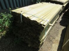 1 X BUNDLE OF VENETIAN STRIP TIMBER CLADDING. 1.83M X 4.5CM X 1.5CM SIZE