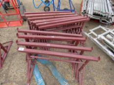 12 X SMALL SIZED BUILDER'S TRESTLES. LITTLE USED/NEW. DIRECT FROM LOCAL COMPANY DUE TO DEPOT CLOSURE