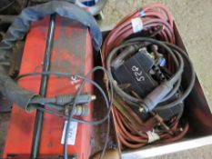 KEMPII WELDER PLUS BOX OF WELDING SUNDRIES, HOSES ETC