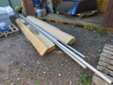 6 X ALUMINIUM SCAFFOLD POLES PLUS 8 X BOARDS. DIRECT FROM LOCAL COMPANY DUE TO DEPOT CLOSURE.