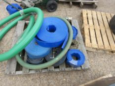 PALLET OF LAYFLAT HOSES PLUS A SUCTION HOSE. DIRECT FROM LOCAL COMPANY DUE TO DEPOT CLOSURE