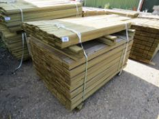 2 X BUNDLES OF PROFILED TIMBER CLADDING. 1.44M X 9.5CM X 0.7CM SIZE