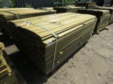 1 X BUNDLE OF SHIPLAP TIMBER CLADDING. 1.73M X 10CM X 1.5CM SIZE