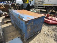 LARGE STEEL WORKBENCH 5FT WIDE APPROX