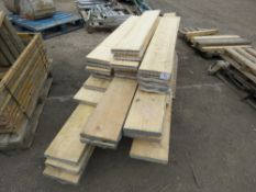 "PALLET OF MIXED LENGTH SCAFFOLD BOARDS, 4FT6"" TO 10FT APPROX."