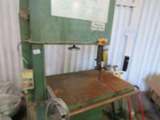 WADKIN BURSGREEN 3 PHASE BANDSAW, WORKING WHEN RECENTLY REMOVED