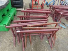 12 X SMALL SIZED BUILDER'S TRESTLES. 10 NEW, 2 USED