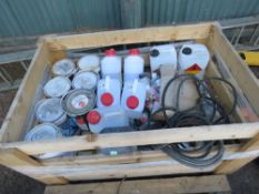 STILLAGE OF FIRE PROOF AND OTHER PAINTS ETC.