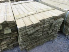 PACK OF FEATHER EDGE CLADDING TIMBER. 1.65 METRES LENGTH X 10CM WIDE.