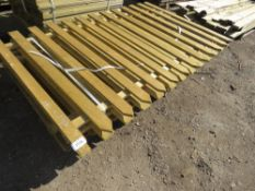 TINBER PALING FENCING 1.82 LONG 1M & 1.2M HEIGHT.