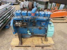 BLUE CUMMINS B SERIES 6 CYLINDER ENGINE