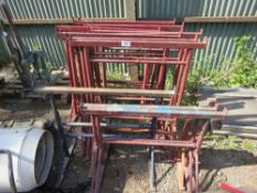 14 X ASSORTED BUILDER'S TRESTLES. DIRECT FROM LOCAL COMPANY DUE TO DEPOT CLOSURE.