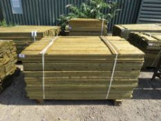 1 X BUNDLE OF FEATHER EDGE TIMBER CLADDING. 1.5M X 10CM SIZE