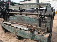 EDWARDS 3 PHASE GUILLOTENE, 8FT BLADE, WORKING WHEN RECENTLY REMOVED.