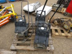 3 X COMPACTION PLATES FOR SPARES/REPAIRS. BROKEN BASES