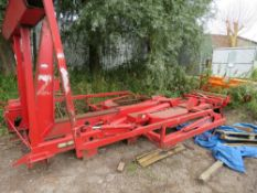 Edbro 8-wheel lorry hook lift equipment, removed from export vehicle