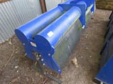 SPITFIRE HEAVY DUTY SLITTER WITH WATER BALASTED FRAME. LITTLE USED, APPROX 8 FT.