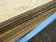 17 X MIXED PLYWOOD AND OTHER SHEETS.