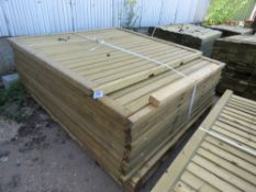 10 X TIMBER FENCING PANELS. 9 @ 1.65M X 1.8 METRES, 1 @1.65M X 1.5M