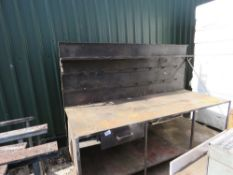 METAL WORK BENCH.