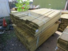 2 X BUNDLES OF PROFILED TIMBER CLADDING. 1.75M X 9.5CM X 0.7CM SIZE