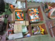 5 X BOXES OF ASSORTED KUBOTA AND MACHINE FILTERS ETC AND PARTS.