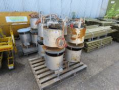 8 X BULLFINCH GAS DUSTBIN TYPE HEATERS. DIRECT EX LOCAL COMPANY DUE TO DEPOT CLOSURE