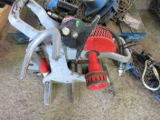 RIDGID 258 ROLL GROOVE PIPE TOOL WITH FOOT PUMP. DIRECT EX LOCAL COMPANY DUE TO DEPOT CLOSURE