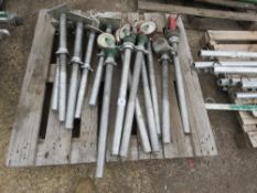 PALLET OF SCAFFOLD TOWER WHEELS AND BASE SUPPORTS. DIRECT FROM LOCAL COMPANY DUE TO DEPOT CLOSURE
