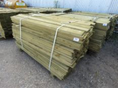 PACK OF FEATHER EDGE CLADDING TIMBER. 1.5 METRES LENGTH X 10CM WIDE.