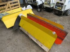 APPROX 10 X COMPACT TRACTOR SNOWPLOUGH BLADES WITH BOX OF FITTINGS.