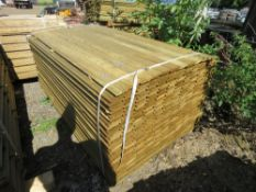 1 X BUNDLE OF SHIPLAP TIMBER CLADDING. 1.83M X 10CM X 1.5CM SIZE