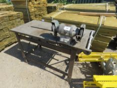 STEEL BENCH WITH GRINDER.
