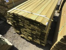 1 X BUNDLE OF PROFILED TIMBER CLADDING. 1.74M X 9.5CM X 0.7CM SIZE
