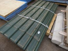 PALLET OF GREEN PRE USED PROFILED ROOF SHEETS.