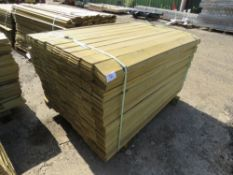 1 X BUNDLE OF PROFILED TIMBER CLADDING. 1.44M X 9.5CM X 0.7CM SIZE