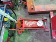 TROLLEY JACK. DIRECT EX LOCAL COMPANY DUE TO DEPOT CLOSURE