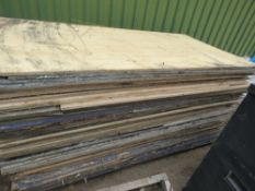 APPROX 56 NO ASSORTED PRE USED BOARDS, MAINLY PLYWOOD.