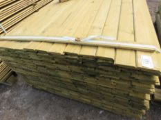 SMALLER PACK OF 1.72M APPROX SHIPLAP CLADDING TIMBER X 9.5CM WIDTH.