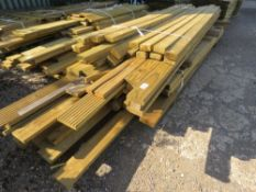 LARGE QUANTITY OF FENCING TIMBERS, DECKING AND POSTS.