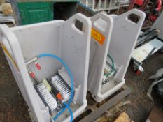 2 X CEMO BOOT WASHING STATIONS, LITTLE SIGN OF USEAGE