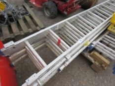2 X 13 RUNG TRIPLE LADDERS WITH STABILISER BASES.