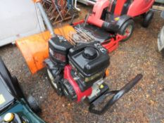 HUSQVARNA REAR TINE PETROL ROTORVATOR. WHEN TESTED WAS SEEN TO RUN AND BLADES TURNED.