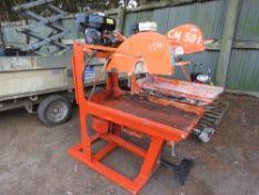 CLIPPER CM501 PETROL ENGINED SAWBENCH.