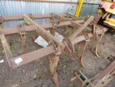 TRACTOR MOUNTED CHISEL PLOUGH, 8 FOOT WIDE APPROX. DIRECT FROM DEPOT CLOSURE.