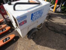 STEPHILL 6KVA GENERATOR, WHEN TESTED WAS SEEN TO RUN AND MAKE SOME POWER BUT EXHAUST NEEDS ATTENTION