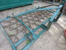 TRACTOR MOUNTED 10 FOOT WIDE CHAIN HARROWS WITH FOLDING WINGS. DIRECT EX SITE CLOSURE.
