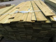 1 X PACK OF 1.65M X 10CM WIDE FEATHER EDGE TIMBER CLADDING