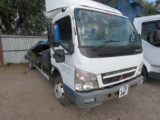 MITSUBISHI FUSO FLIP DECK CAR TRANSPORTER, 7500KG RATED. REG:LT10 NWF. 363,222 REC KMS. WITH WINCH.