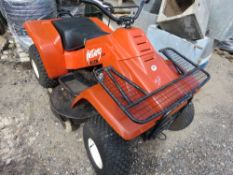 ALLEN MUSTANG PETROL ENGINED QUADBIKE MOWER, 3 FOOT CUT APPROX. UNTESTED AND CONDITION UNKNOWN.